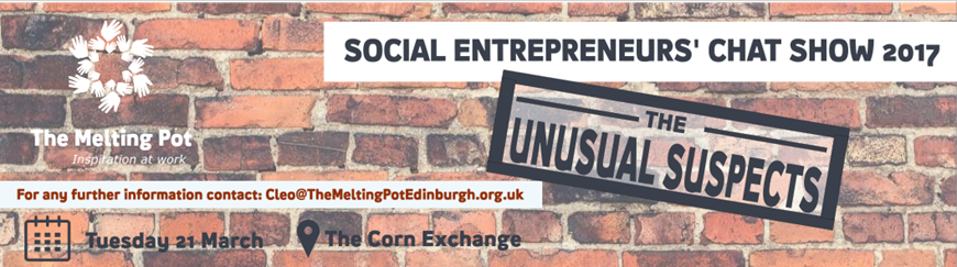 Social Entrepreneurs' Chat Show - Unusual Suspects